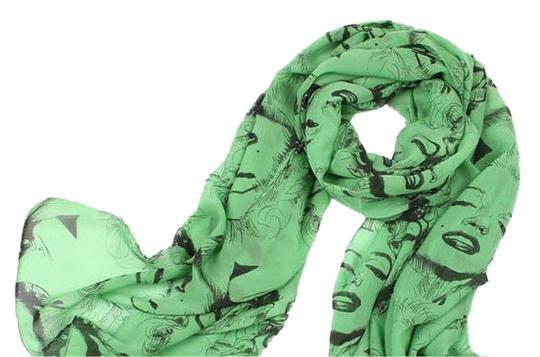 Preload https://item2.tradesy.com/images/glamour-girl-designs-pinup-scarf-ala-marilyn-in-green-and-black-1746406-0-0.jpg?width=440&height=440