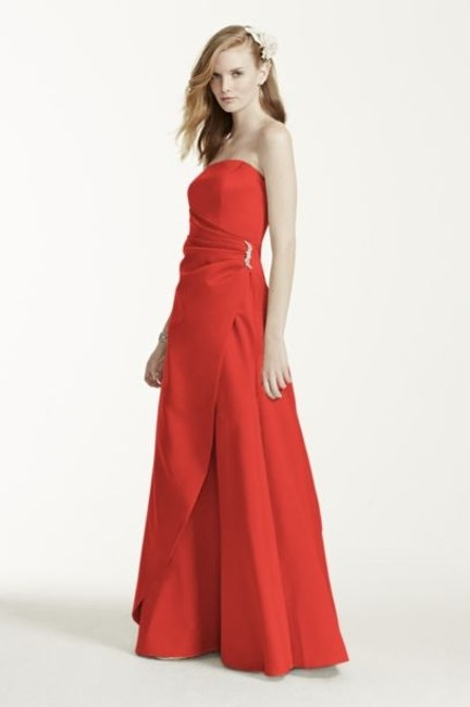 Item - Persimmon Satin W 8567 New W/ Tags Gown with Drape Brooch Formal Bridesmaid/Mob Dress Size 10 (M)