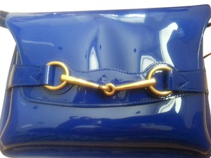 Gucci Cross Body Clutch Patent Leather Shoulder Bag