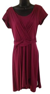 Garnet Hill short dress maroon Faux Wrap Midi on Tradesy