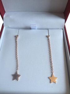 Luis Miguel Howard Rose Gold & Diamond Star Dangling Earrings