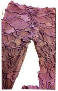 Hard Tail Festival Yoga Sheer Mummy Halloween Wide Leg Pants grey