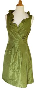 J.Crew Silk Midi Metallic Dress