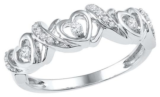 Other Ladies Luxury Designer 10k White Gold 0.13 Cttw Diamond Fashion Ring By BrianGdesigns