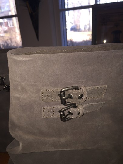 Nordstrom Bnwt Buckle Slip On Gray Boots