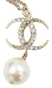 Chanel Chanel Gold Moonlight Paris Dubai Rhinestone Pearl Dangle Necklace