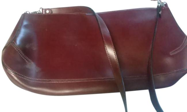Item - Made In Italy Maroon Leather Shoulder Bag