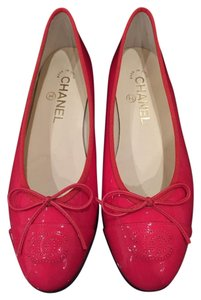 Chanel Ballet Ballerina red Flats
