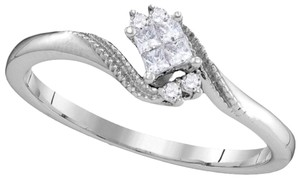 Other Ladies Luxury Designer 10k White Gold 0.10 Cttw Diamond Fashion Ring By BrianGdesigns