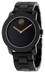 Movado Black Dial Bronze Hands TR90 Stainless Steel Designer Unisex Watch