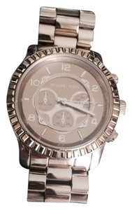 Michael Kors GOLD Runway Oversized MK Chrono w/box & addt'l links - Stunning!