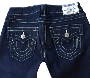 True Religion Straight Pants Very Dark Blue