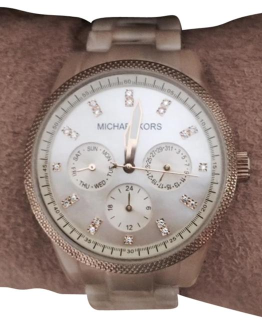Item - Beige / Horn Resin Wiith Crystals and Mother Of Pearl Watch