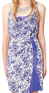 Greylin short dress Blue Floral Silk Dahlia on Tradesy