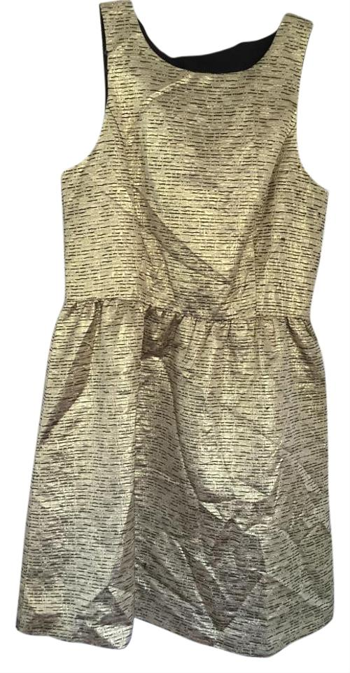 Kensie Gold Pretty At The Party Short Cocktail Dress Size 8 M