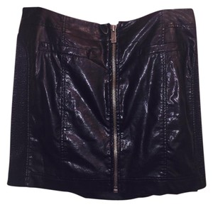 Vince Camuto Edgy Faux Leather Night Out Mini Skirt Black