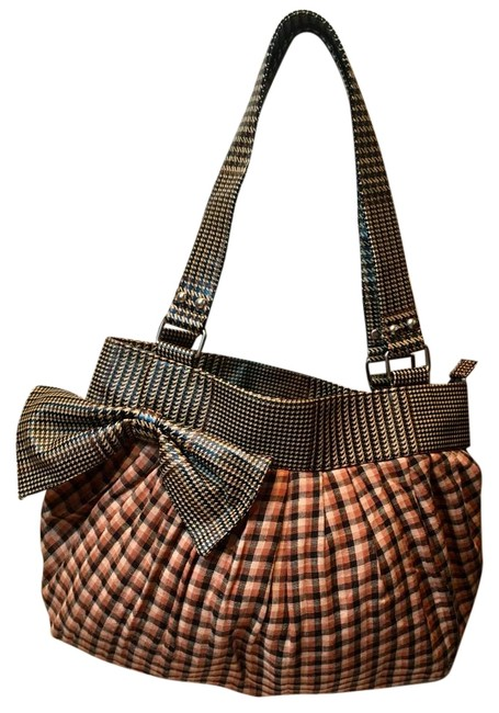 Item - Nordstrom Bow Purse Plaid Multi Cotton and Vinyl Shoulder Bag