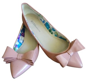 BCBGeneration Bow Leather Patent Leather Blush Flats