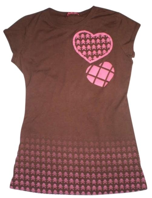 Preload https://item2.tradesy.com/images/brown-skulls-and-hearts-tunic-size-8-m-174666-0-0.jpg?width=400&height=650