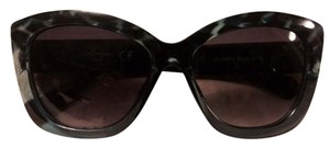 Jessica Simpson Gorgeous Oversized Statement Sunglasses with Silver JS Logo at temples