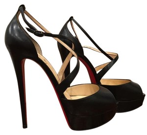 Christian Louboutin Cross Me Crossme Platform black Pumps