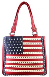 Montana West Concealed Pocket Tote in Red