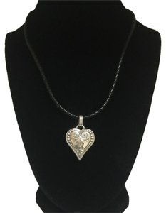 Brighton Heart Necklace in Leather Chain