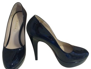 Prada Patent Leather Pumps Black Platforms