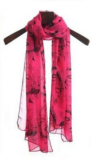 Other SOLD OUT Marilyn Scarf in Rose and Black