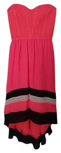 Parker short dress Light Coral Strapless Silk on Tradesy