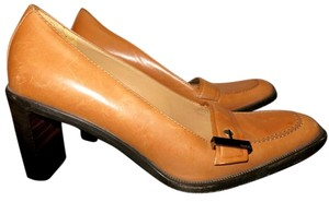Gucci Leather Heel Tan Light Brown Mules