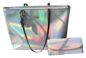 Coach Tote in Siliver Hologram