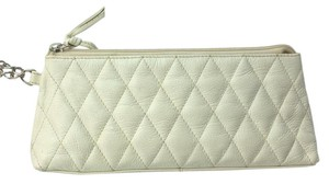 Barneys New York White Wristlet