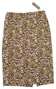 J.Crew J. Crew Pencil Skirt Multi - Green, Purple, Black