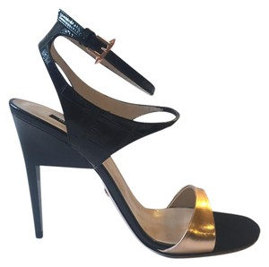 Ruthie Davis Stilettos Evening Black and Champagne Pumps