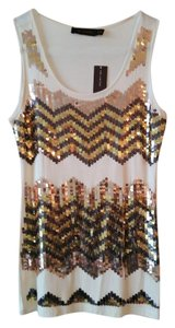The Limited Top White, Sequined