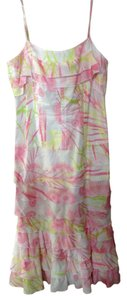 White pastel print Maxi Dress by Charles Chang Lima