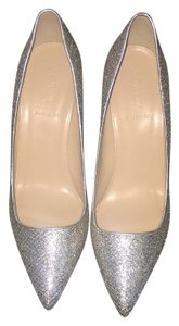 J.Crew Collection Roxie Wedding Glitter Gold/Silver Pumps
