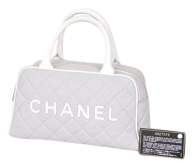 Item - Sports Line Small Handbag Hand Quilted Grey (Guaranteed Canvas Baguette