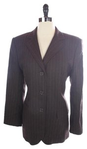 Ralph Lauren Wool Suit Brown Pinstripe Blazer