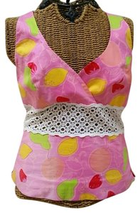 Lilly Pulitzer Fruit Pink Halter Top