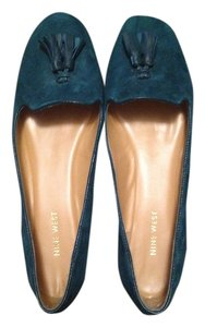 Nine West Suede Loafer Teal Flats