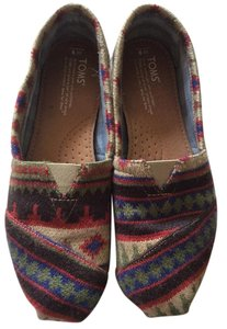 TOMS Kilim Beige/brown/red Flats