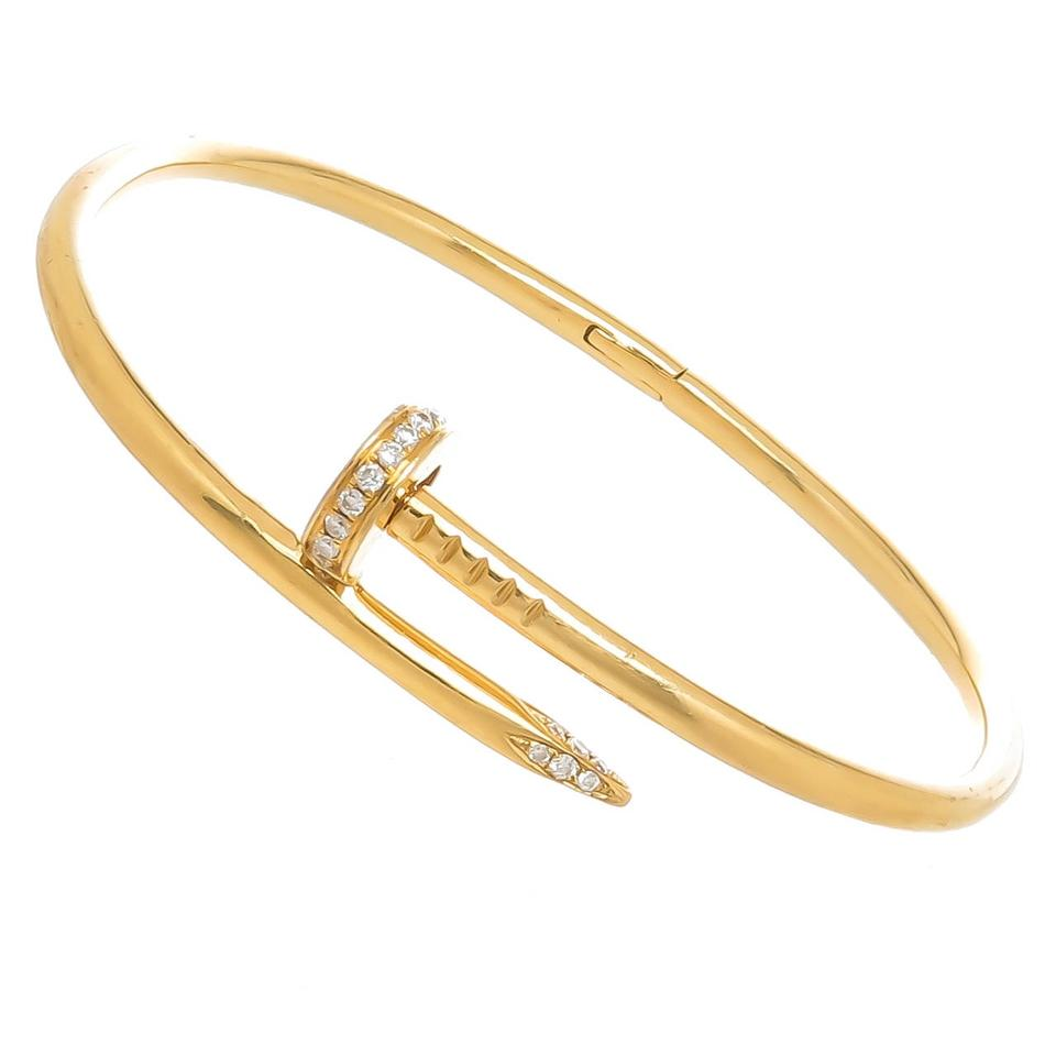 Cartier Love Yellow Gold Nail Bracelet With Diamond Size 16