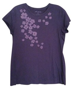 Eddie Bauer Applique T Shirt Plum