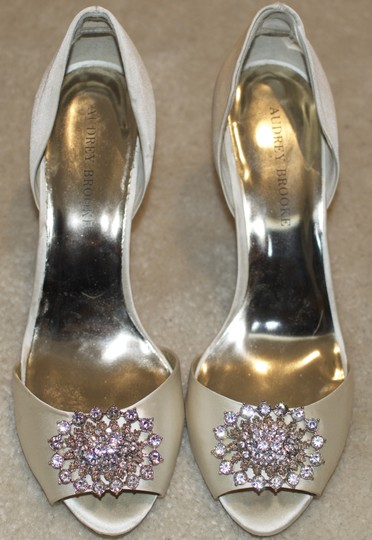 Audrey Brooke Wedding Shoes Formal Shoes Ivory Shoes Low Heel Shoes Wedding Shoes