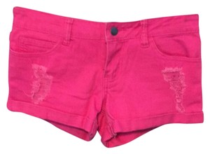Forever 21 Cuffed Shorts Pink