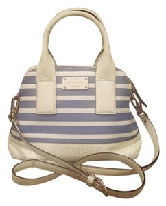 Kate Spade Striped Mini Satchel in Blue and White Stripes