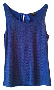 The Limited Lace Sparkle Top Royal Blue