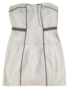 BCBGeneration short dress White ans grey stripe on Tradesy